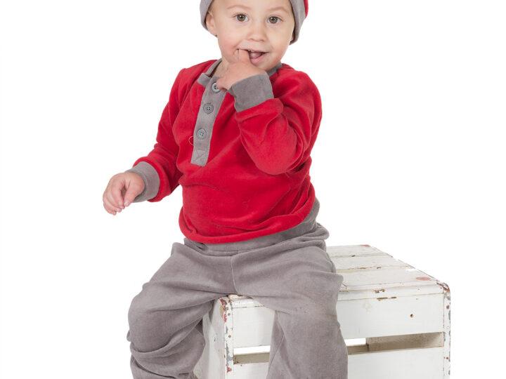 Tomtebesök på barnfotografering
