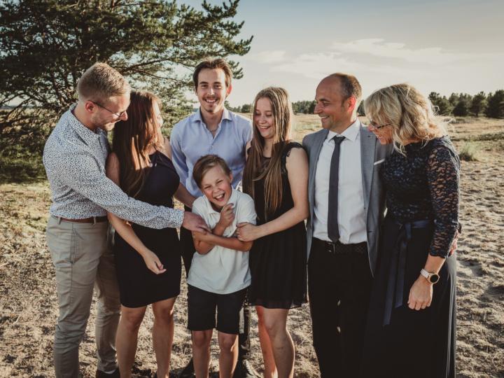 Familjefoto på Gläntan